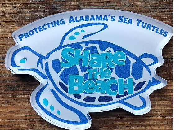Share The Beach Souvenir-Gift Magnet