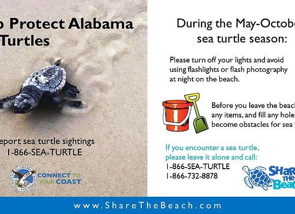 Share the Beach educational refrigerator magnet.