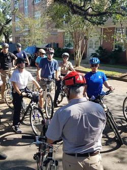 Bike route lesson stop