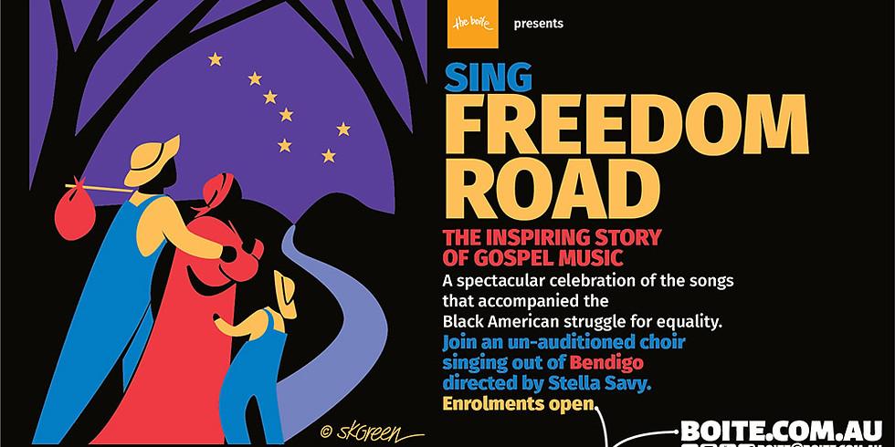 Freedom Road Bendigo - Rehearsals