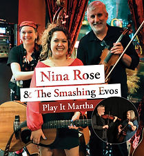 Playful and poetic folk music that will leave you uplifted and under their spell. Nina's original songs are heartfelt and catchy, backed by her troupe of harmonising cousins - the Smashing Evos. With an opener by Play it Martha