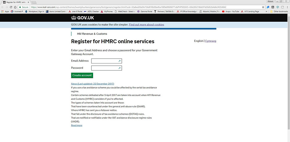 Spoof HMRC Portal