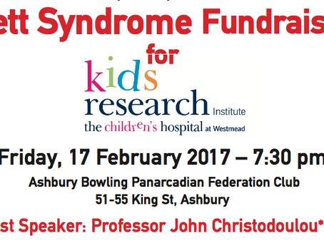 Rett Syndrome Fundraiser (17/2/17)