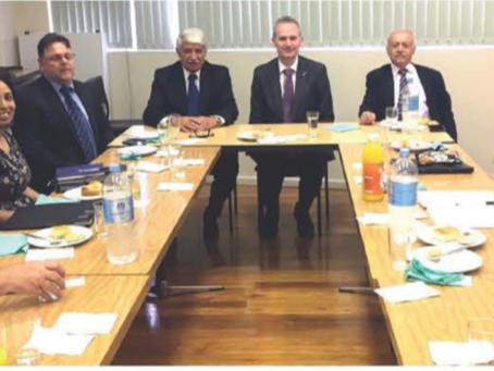 Επίσκεψη του Υπουργού Μετανάστευσης Mr David Coleman την AHEPA (7-11-18)