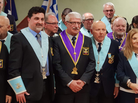 Officers installation of the Chapters Anatole No 7, Platon No 4 (01/07/18)