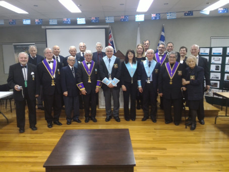 Officers installation of the Chapters Anatole No 7, Chiron No 22, Alexandros No 25 (24/06/16)
