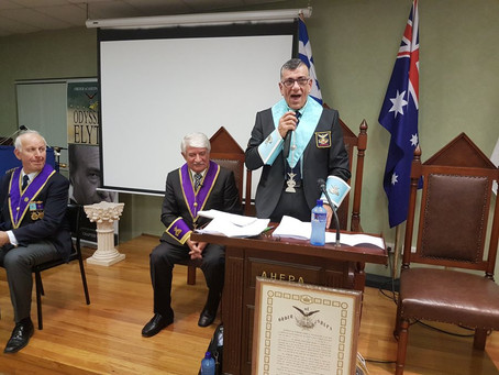 Officers installation of Chapter Chiron No 22 - Bro Phillip Kaloudis new President (04/06/17)