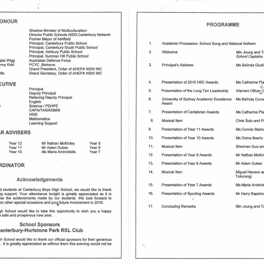 AHEPA NSW INC CBHS Presentation Night 16.11.2016 reverse