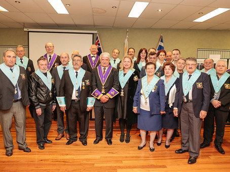 Installation of officers for two chapters Diogenes No 8 and Chiron No 22 (26/9/15)