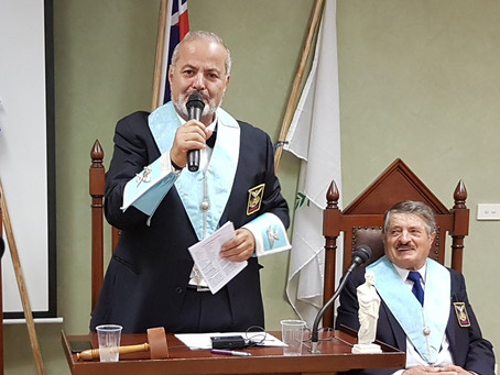 Officers installation of Chapter Ippokratis No 21 - Bro Steve Georgiou new President (10/10/17)