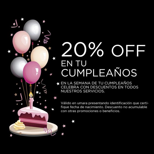 20% Off en tu cumpleaños