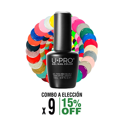Combo 9 Gel Color a elección