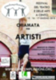 invito di partecipazione artisti di strada