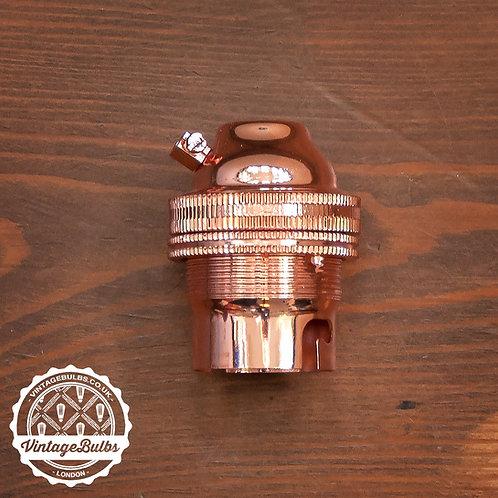 Metal Lamp Holder (B22) - Copper