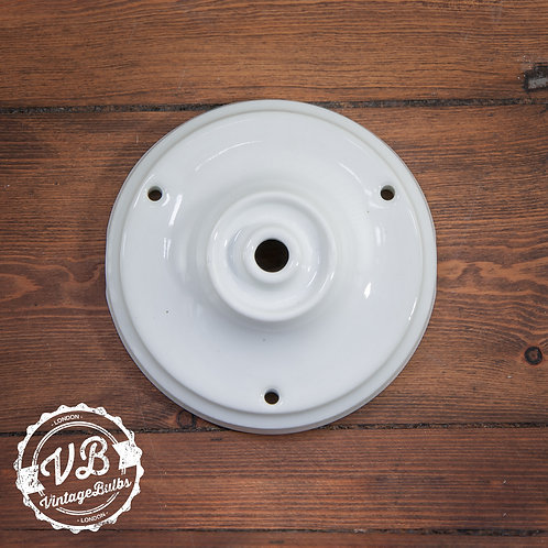 Ceramic Porcelain Ceiling Rose - White