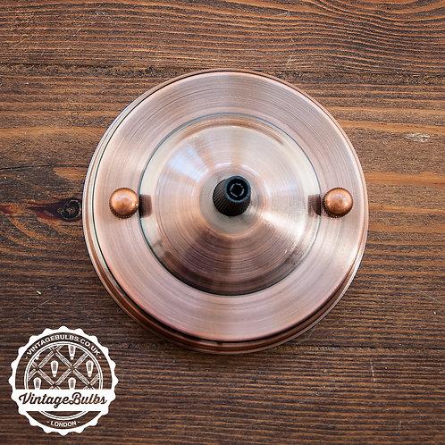 Metal Ceiling Rose #02 - Antique Copper