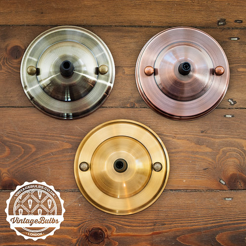 Metal Ceiling Rose #02 - Antique