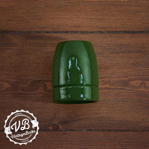 Ceramic Porcelain Lamp Holder - Green