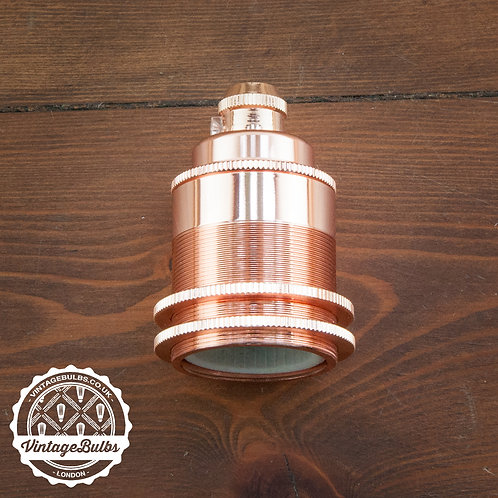 Metal Lamp Holder #02 (E27) - Copper