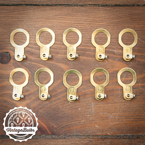 Brass Earth Tags