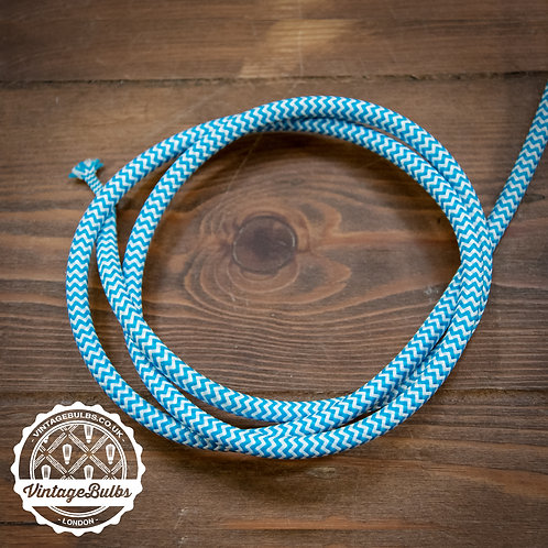 Fabric Cable - Blue & White