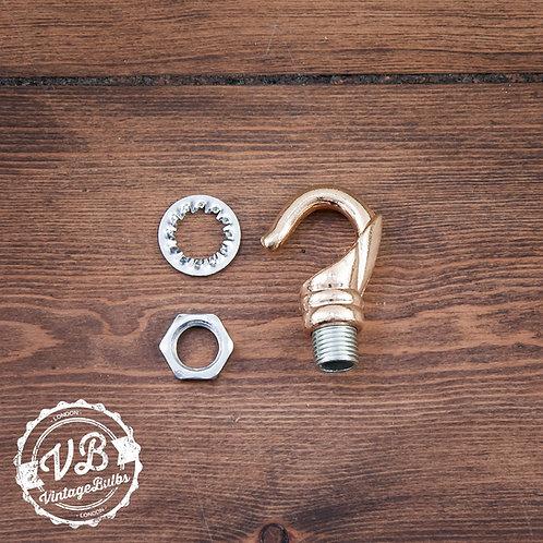 Ceiling Rose Chandelier Hook - Dull Brass
