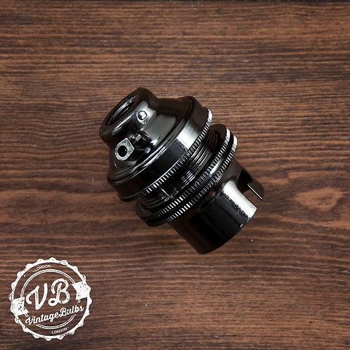 Metal Lamp Holder (B22) - Pearl Black