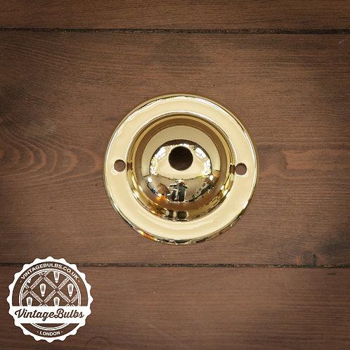 Mini Metal Ceiling Rose #03 - Brass