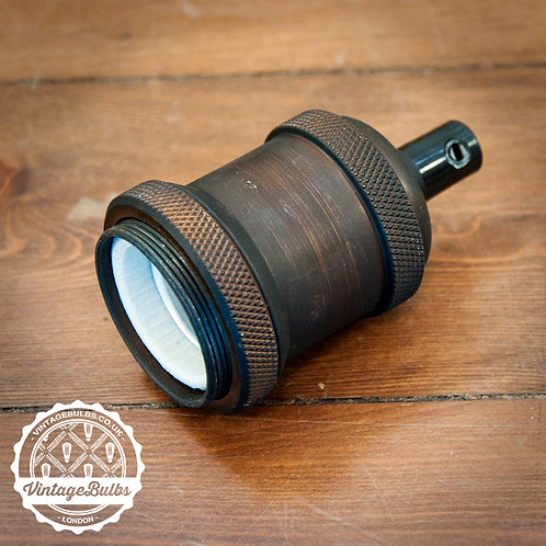 Metal Lamp Holder #03 (E27) - Dark Copper