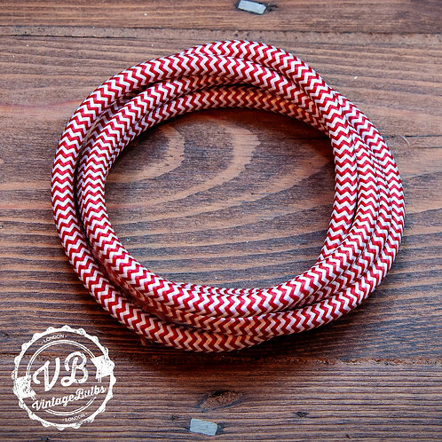 Fabric Cable - Red & White