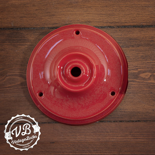 Ceramic Porcelain Ceiling Rose - Red