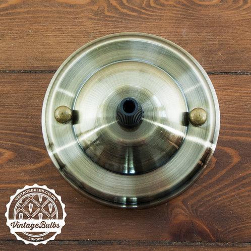 Metal Ceiling Rose #02 - Antique Brass