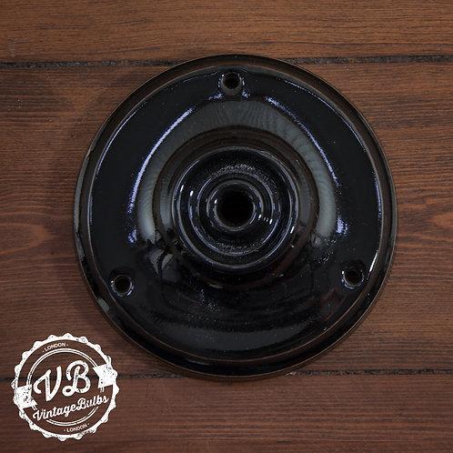 Ceramic Porcelain Ceiling Rose - Black