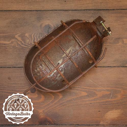 Metal Work Lamp Guard - Rusted