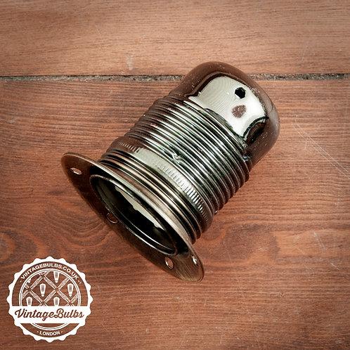 Metal Lamp Holder #01 (E27) - Pearl Black
