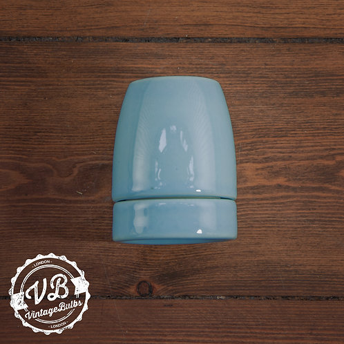 Ceramic Porcelain Lamp Holder - Baby Blue
