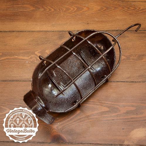 Metal Work Lamp Guard - Rusty Sea Salt