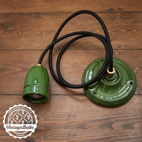 Ceramic pendant lamp DIY kit - Green