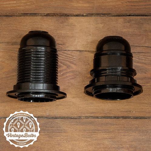 Bakelite Lamp Holders - Black