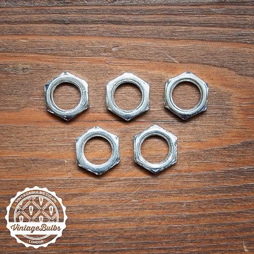 Metal M10 Flat Nut x5