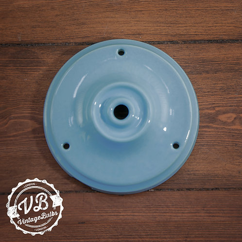 Ceramic Porcelain Ceiling Rose - Baby Blue