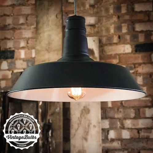 XL Industrial Retro Lamp Shade - Black