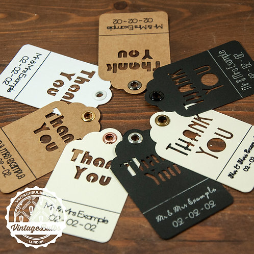 Personalised Thank You, Wedding Favour Tags x 10. B2G1FREE