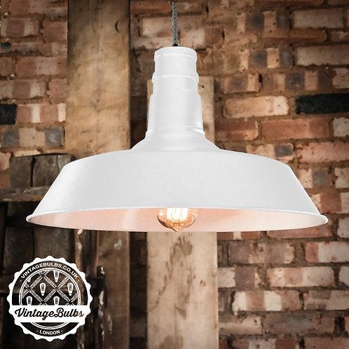 XL Industrial Retro Lamp Shade - White