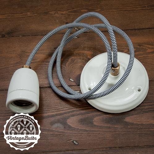 Ceramic pendant lamp DIY kit - White