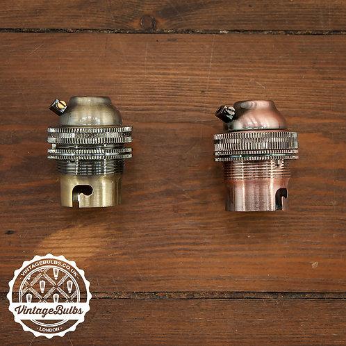 Metal Lamp Holder (B22) - Antique