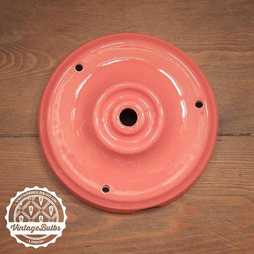 Ceramic Porcelain Ceiling Rose - Red Salmon