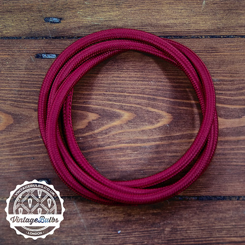 Fabric Cable- Burgundy