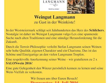 Juli '16 – Weinverkostung Langmann