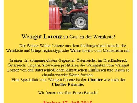 Juli '15 Weinverkostung Weingut Lorenz